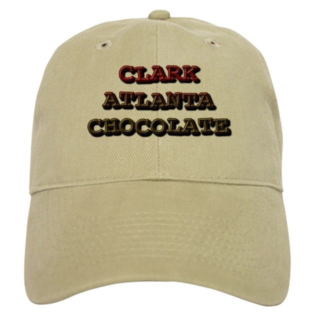 Chocolate Baseball Cap: CLARK ATLANTA CHOCOLATE Baseball Cap By CHOCOLATEDROP1