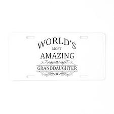 World's Most Amazing Grandd Aluminum License Plate