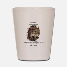 Quit Smoking Motivational Fun Squirrel Quote Shot