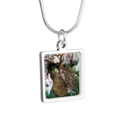 Mother Nature Silver Square Necklace