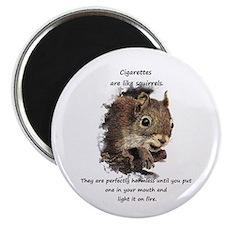 Quit Smoking Motivational Fun Squirrel Magnets