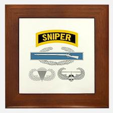 Sniper CIB Airborne Air Assault Framed Tile