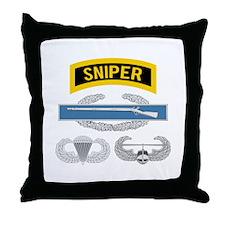 Sniper CIB Airborne Air Assault Throw Pillow