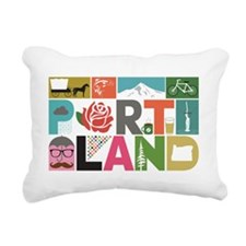Unique Portland - Block  Rectangular Canvas Pillow