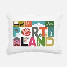 Unique Portland - Block  Rectangular Canvas Pillow