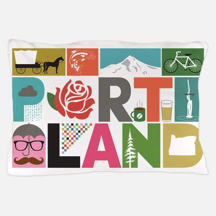 Unique Portland - Block by Block Pillow Case