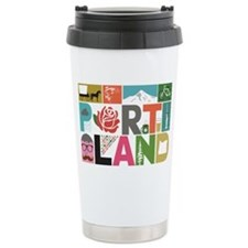 Unique Portland - Block Travel Mug