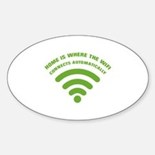 home is where the wifi - green Decal