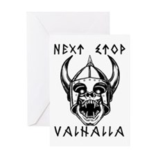 Cute Valhalla Greeting Card