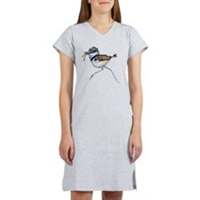 Fluffy Killdeer Chick Women's Nightshirt