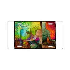 Meditation with Mother Eart Aluminum License Plate