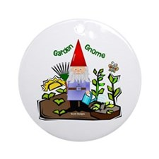 Garden Gnome Ornament (Round)