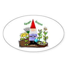 Garden Gnome Oval Decal