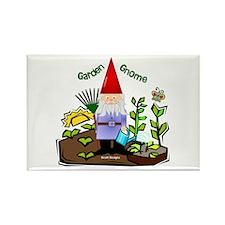 Garden Gnome Rectangle Magnet (100 pack)