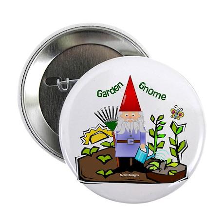"""Garden Gnome 2.25"""" Button (10 pack)"""