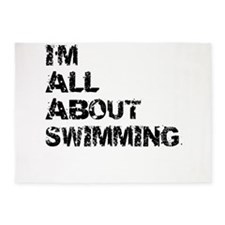 Im All About Swimming 5'x7'Area Rug