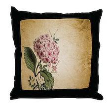 paris hydrangea  french botanical art Throw Pillow