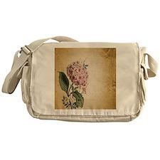 paris hydrangea  french botanical ar Messenger Bag