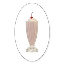 Milkshakes Oval Sticker