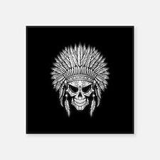 Dark Native Sugar Skull with Headdress Sticker