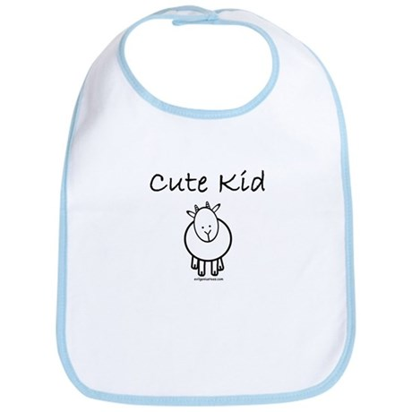 Cute kid goat Bib