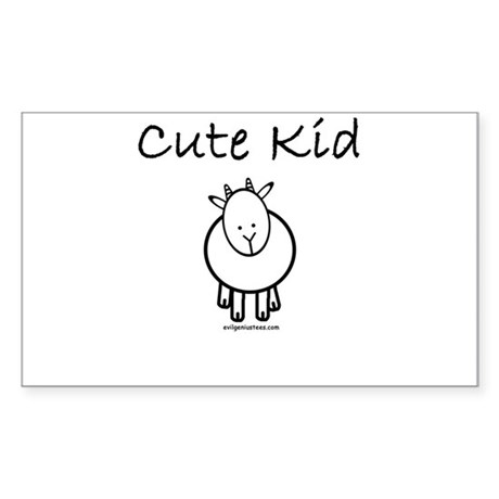 Cute kid goat Rectangle Sticker
