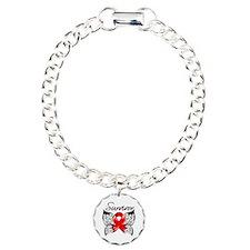 Survivor Stroke Butterfl Charm Bracelet, One Charm