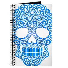Blue Swirling Sugar Skull Journal
