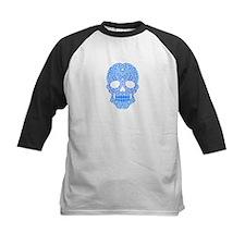 Blue Swirling Sugar Skull Baseball Jersey