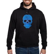 Blue Swirling Sugar Skull Hoodie