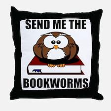 Bookworm Owl Throw Pillow