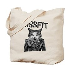 Hissfit Rebel Misfit Kitty Cat Tote Bag