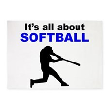 Its All About Softball 5'x7'Area Rug