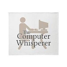 The Computer Whisperer Throw Blanket