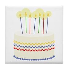 Birthday Cake Tile Coaster