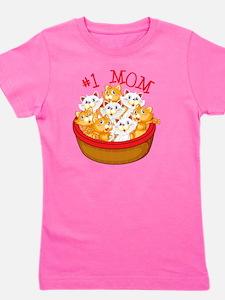 Number One MOM  Basket of Kitties Girl's Tee