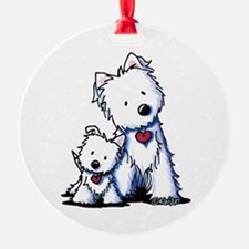 KiniArt Westie Buds Ornament