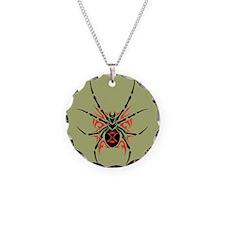 Tribal Black Widow Spider Necklace