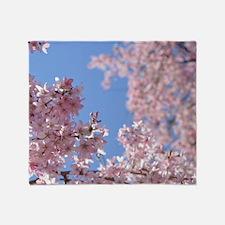 Cherry blossom Tree Throw Blanket