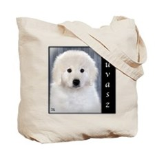 Kuvasz Tote Bag-Puppy & Adult diff. on ea.side