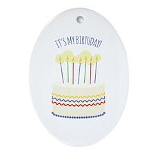 Its My Birthday Ornament (Oval)