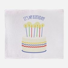 Its My Birthday Throw Blanket