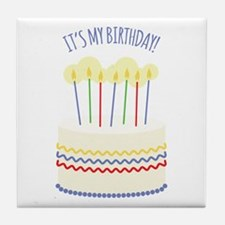 Its My Birthday Tile Coaster