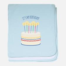 Its My Birthday baby blanket