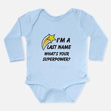 Personalized Last Name Long Sleeve Infant Bodysuit