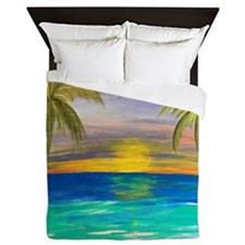 Tropical Sunset Queen Duvet