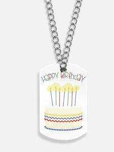 Happy Birthday Dog Tags