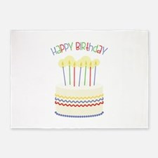 Happy Birthday 5'x7'Area Rug