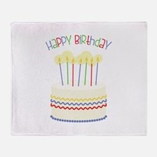 Happy Birthday Throw Blanket