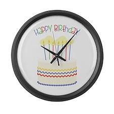 Happy Birthday Large Wall Clock